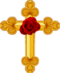 Rosicrucian Cross with       a Rose