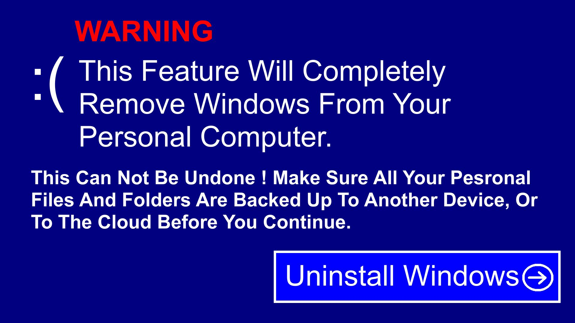Uninstall Windows