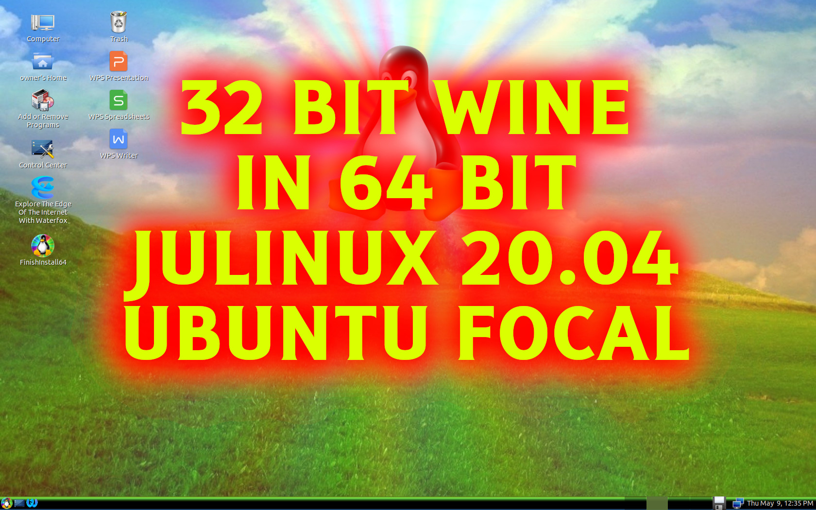 Wine32:i386 On JULinux 20.04.1 Ubuntu Focal
