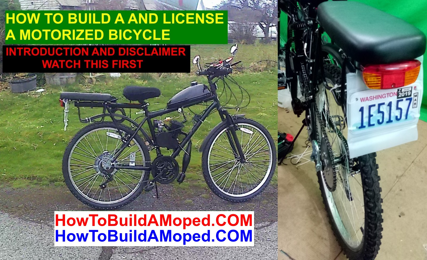 How To Build and License a Motorized Bike INTRODUCTION AND DISCLAIMER Part 0