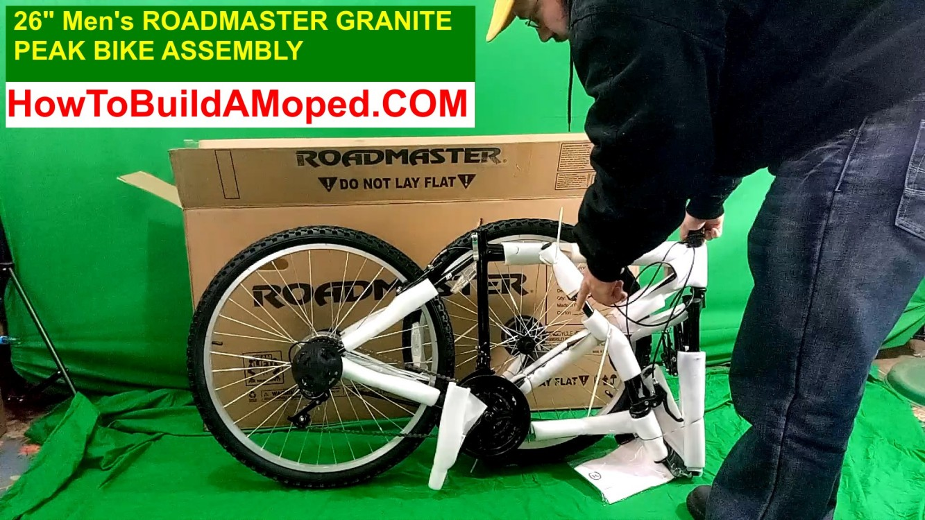"26"" Inch Men's Roadmaster Granite Peak Men's Bike Navy How To Build a Motorized Bicycle Part 2"