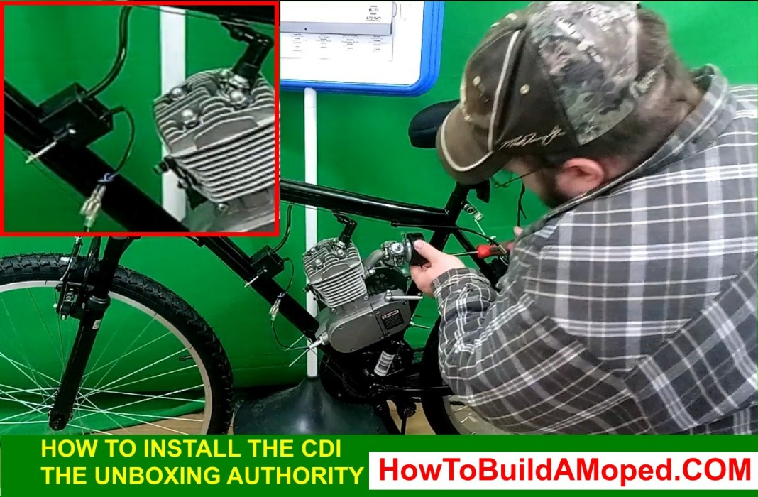 How To Install CDI box, Spark Plugs Correctly, Carburetor How To Build a Motorized Bicycle Part 9