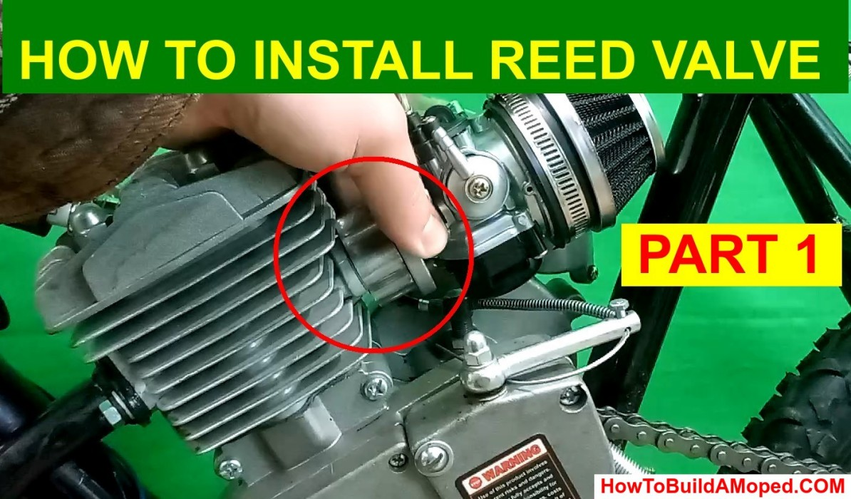 How To Install Reed Valve 40mm How To Build a Motorized Bike Part 22
