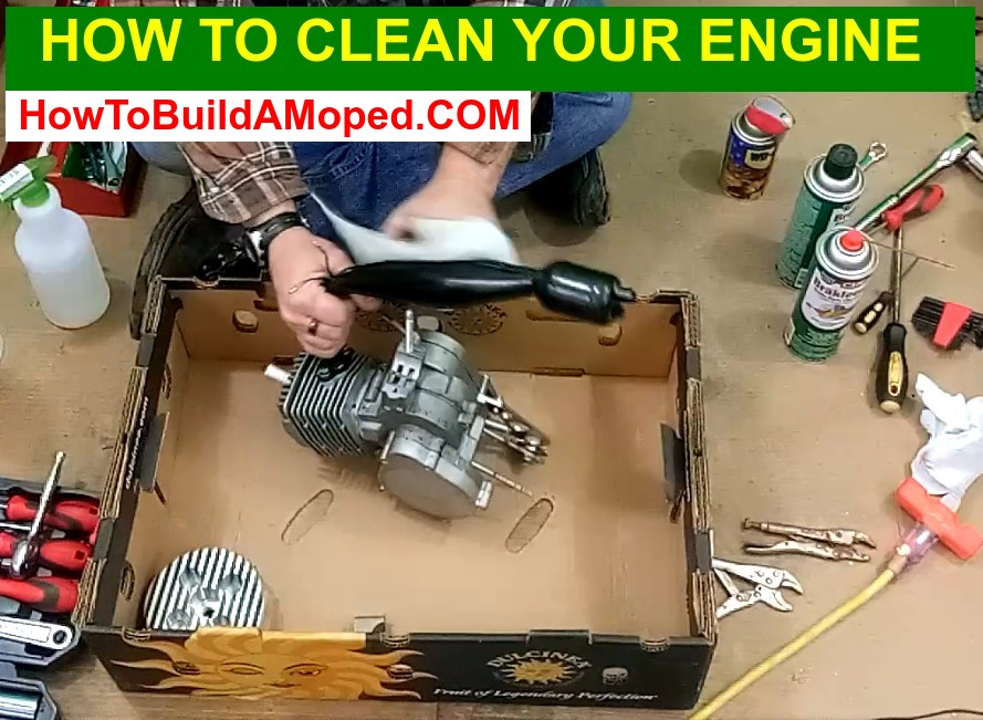 How To Clean Your Engine How To Build a Motorized Bike Part 24