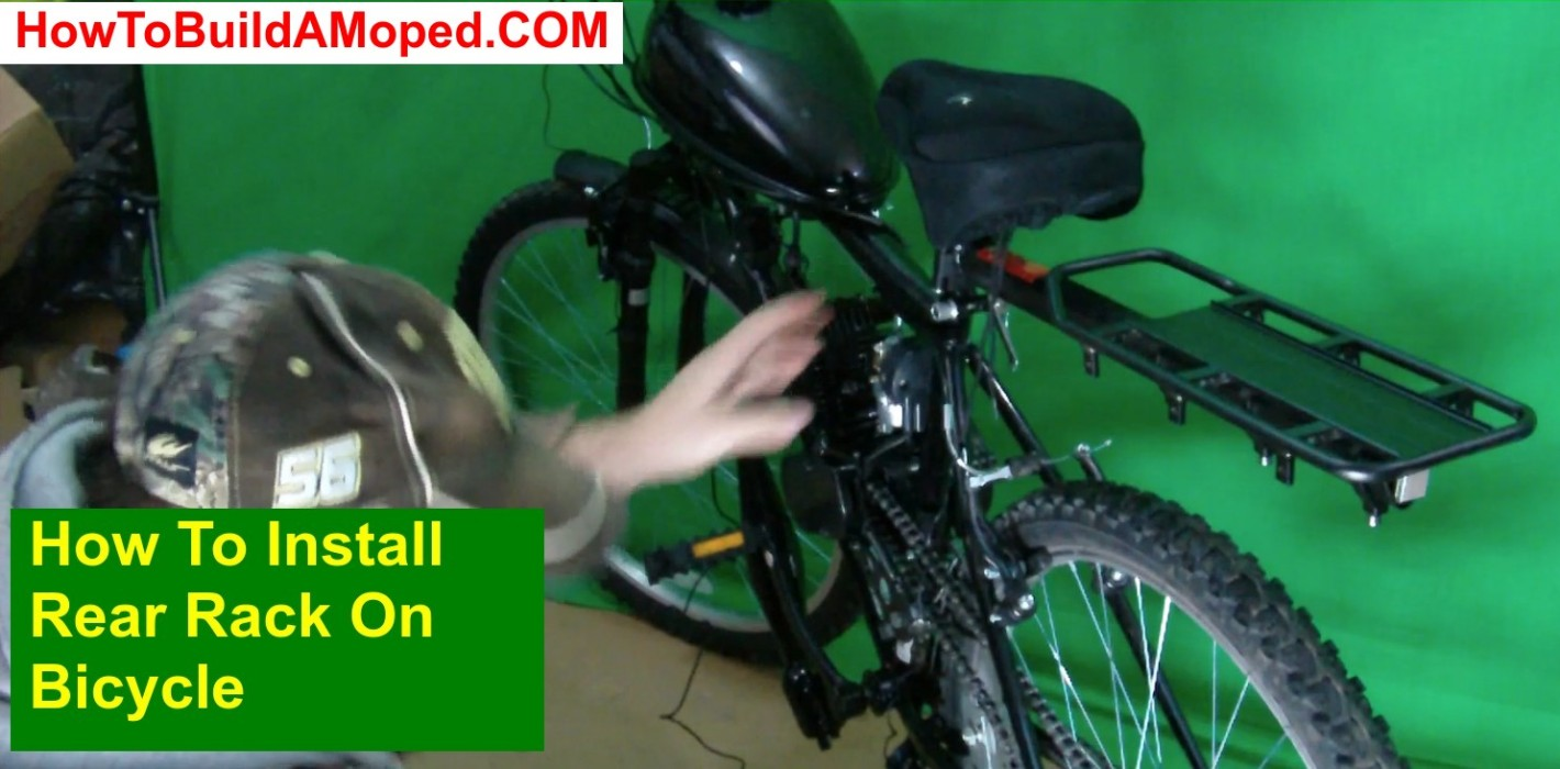How To Install Rear Rack On Bicycle How To Build a Motorized Bike Part 27