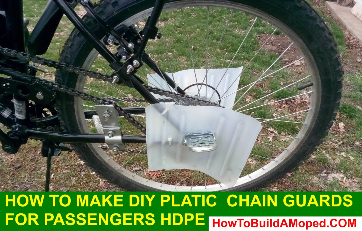 How to Make DIY Plastic Chain Guards for Passengers HDPE How To Build a Motorized Bike Part 31
