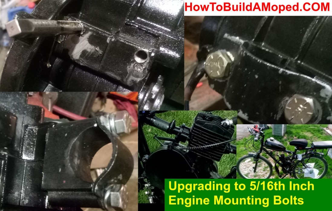 Upgrading to 5/16th Engine Mounting Bolts How To Build a Motorized Bike Part 37