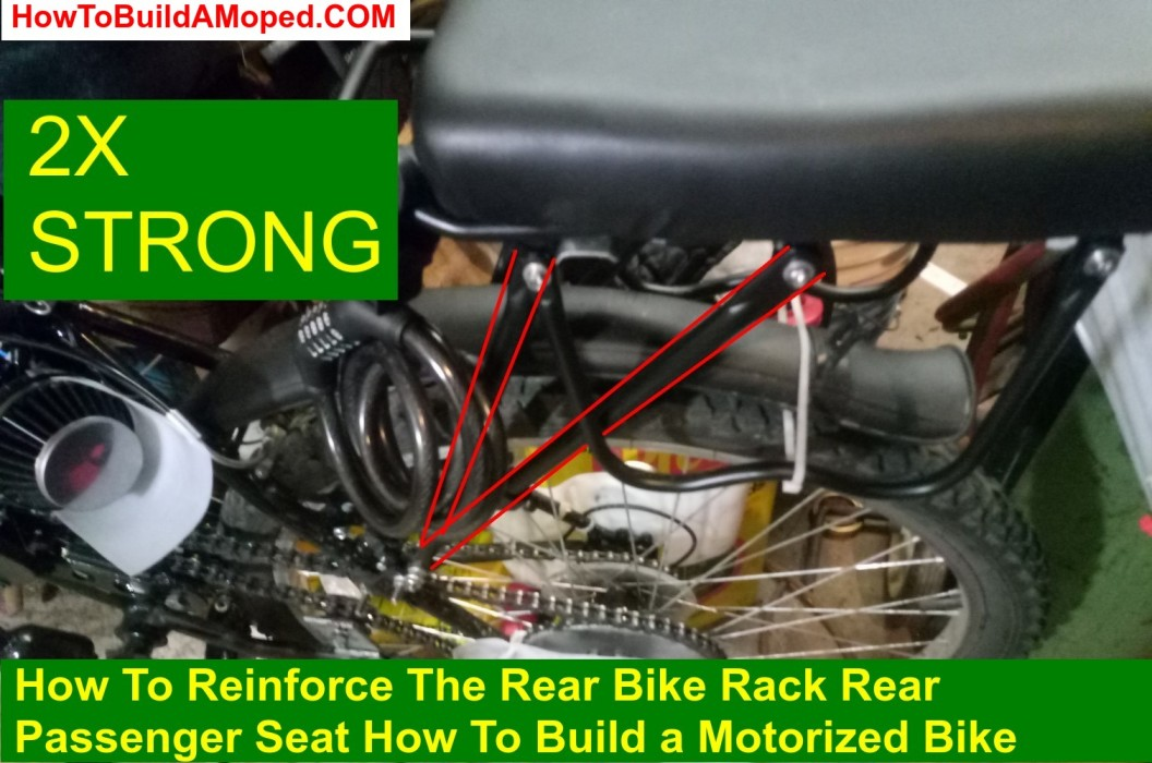 How To Reinforce The Rear Bike Rack Rear Passenger Seat How To Build a Motorized Bike Part 40
